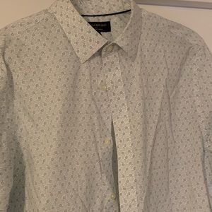 Green floral shirt from banana factory. Worn once